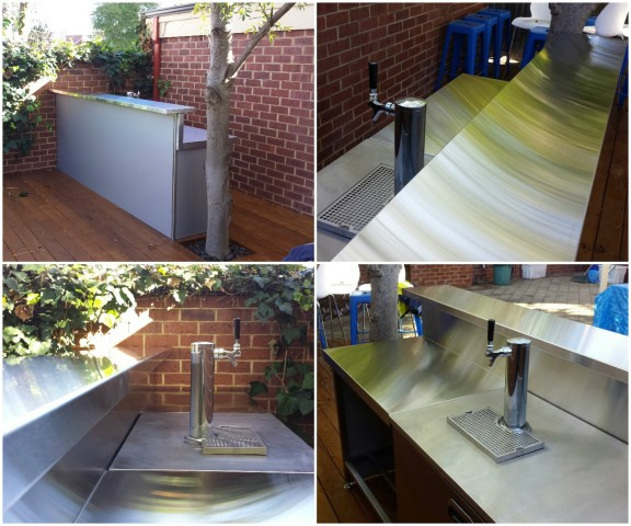 Stainless Steel Solutions at Scout Entertainment's Staff Outdoor Bar